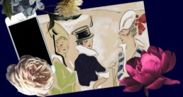 Blog - networking - vintage painting of three women