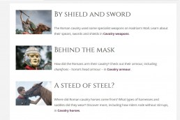 Hadrian's Wall web learning section - screenshot