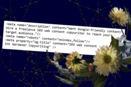 Freelance SEO web content copywriting - an example of Google-friendly metadata