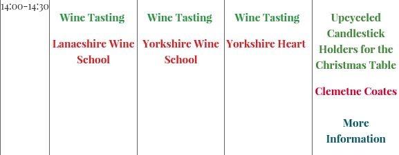 Typos on a website schedule