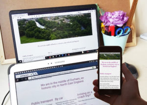 Durham Cathedral responsive website screen devices