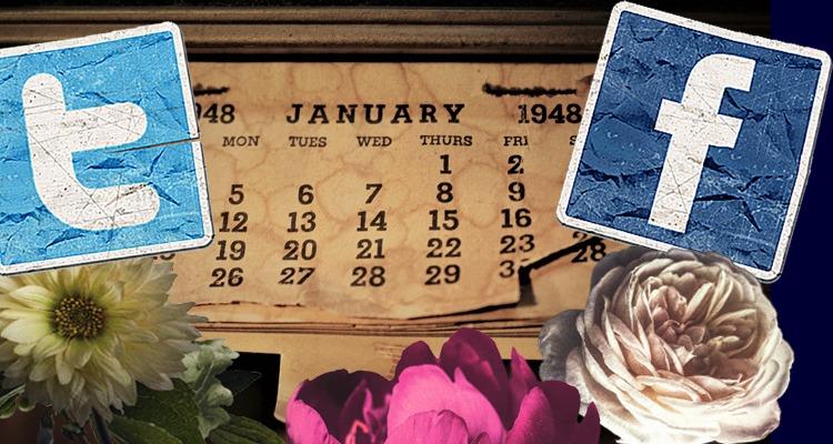 social media calendar 2020 UK - vintage