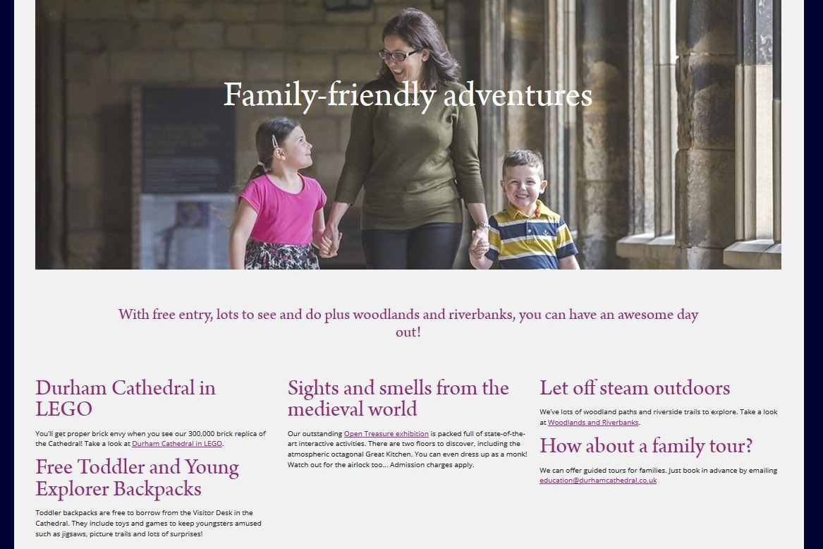 Durham Cathedral Volunteering web content