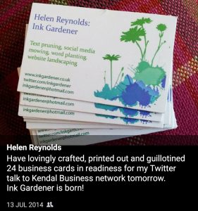 how to be a freelance copywriter UK - first business cards